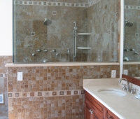 Custom tiling in Master Bath 11 Waterfall Drive